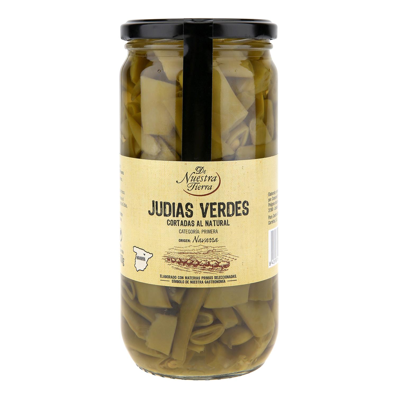 Judías verdes frasco - De Nuestra Tierra 720 g.