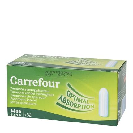 Tampones super ecológicos Carrefour 32 ud.