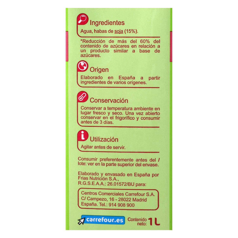 Bebida de soja Carrefour ligera brik 1 l. - 2