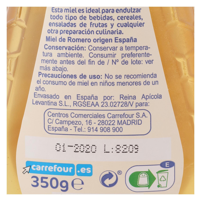 Miel de romero antigoteo Carrefour 350 g. -
