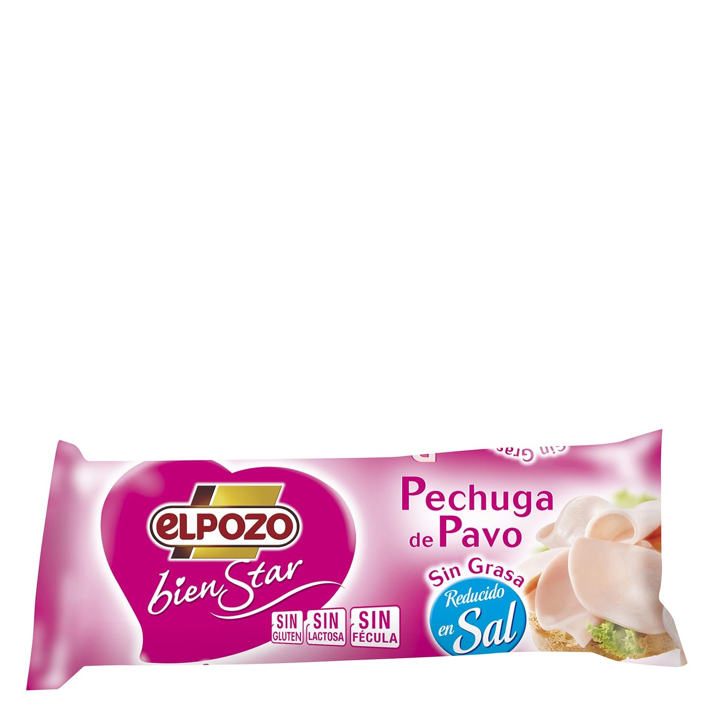 Pechuga de pavo sin grasa reducido en sal mini El Pozo Bienstar 400 g.