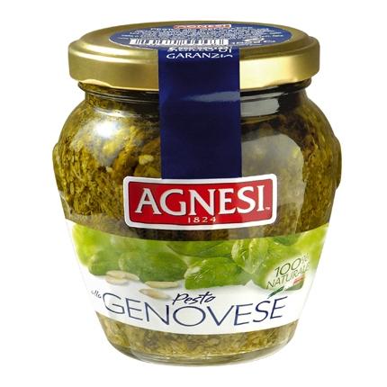 Salsa pesto genovese Agnesi tarro 185 g.