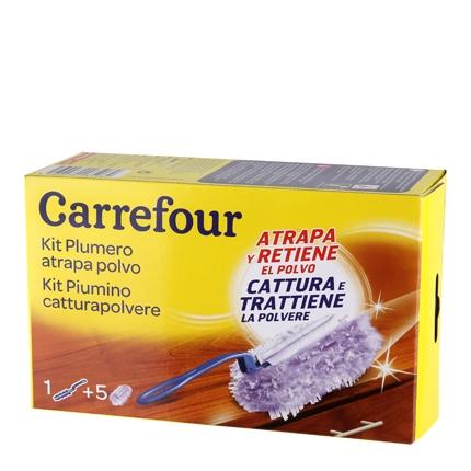 Plumero atrapapolvo + 5 recambios Carrefour Plumero + 5 recambios