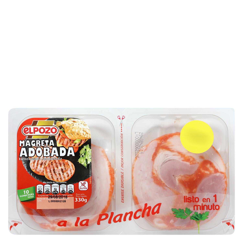 Magreta de Cerdo Adobada Fileteada El Pozo 350 g - 2