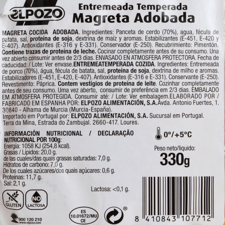Magreta de Cerdo Adobada Fileteada El Pozo 350 g - 3