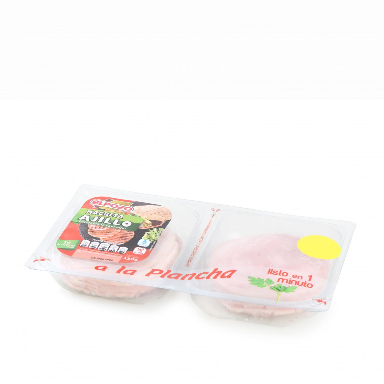 Magreta de Cerdo al Ajillo Fileteada El Pozo 350 g