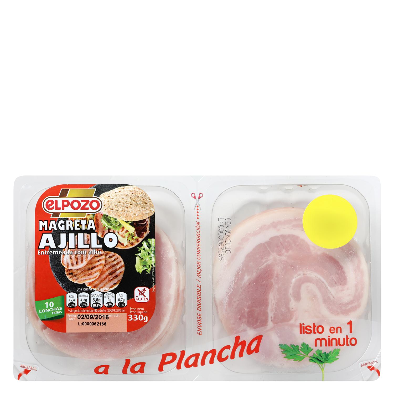 Magreta de Cerdo al Ajillo Fileteada El Pozo 350 g - 2