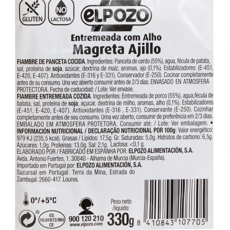 Magreta de Cerdo al Ajillo Fileteada El Pozo 350 g - 3
