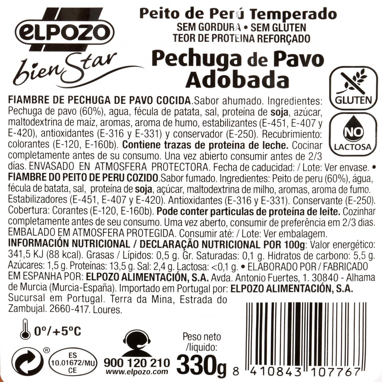 Pechuga de Pavo Adobada El Pozo 330 gr - 4