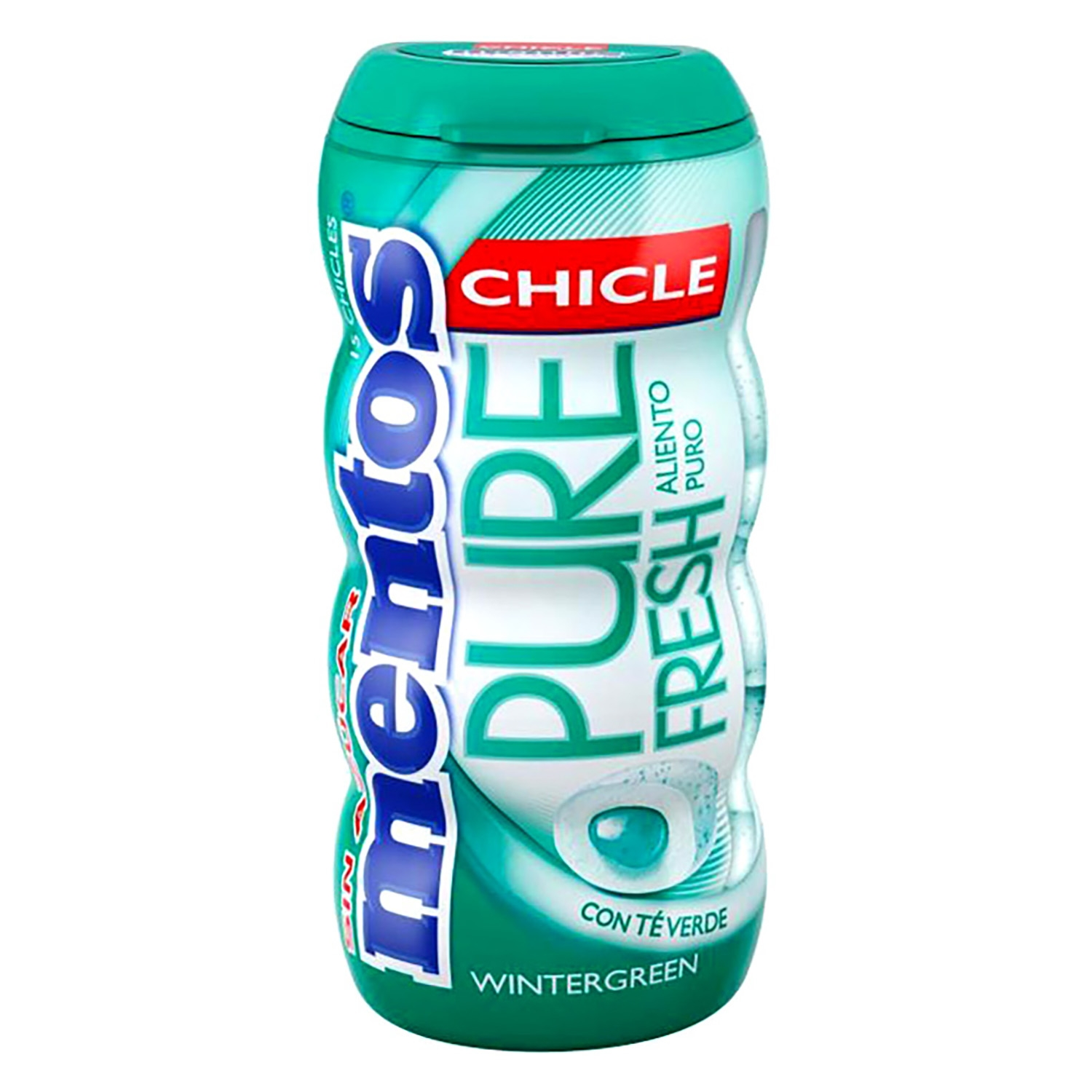 Chicles con té verde Winter Green Pure Fresh Mentos 30 g.