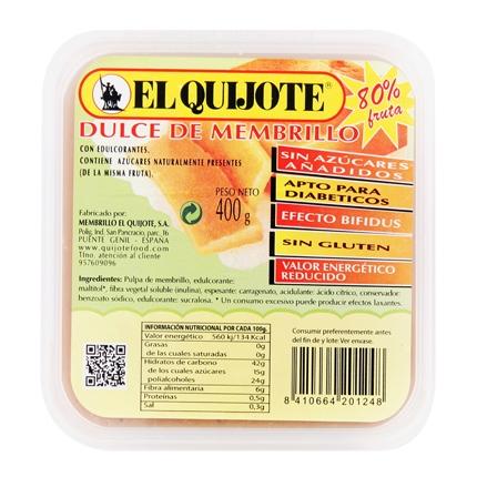 Dulce de membrillo El Quijote 400 g.