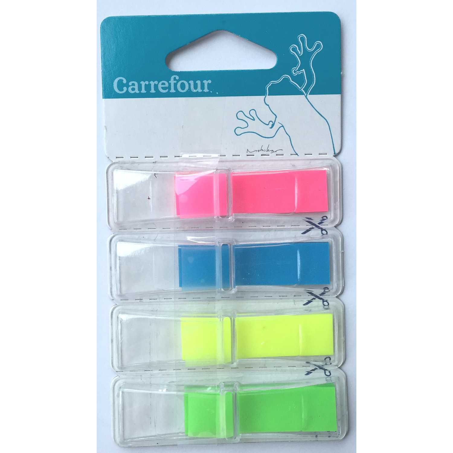 Marcadores 4x35 Index Carrefour con Dispensador