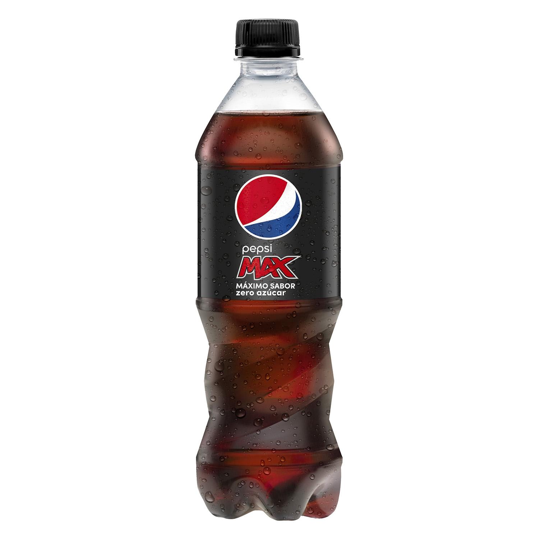 Refresco de cola Pepsi Max zero botella 50 cl.