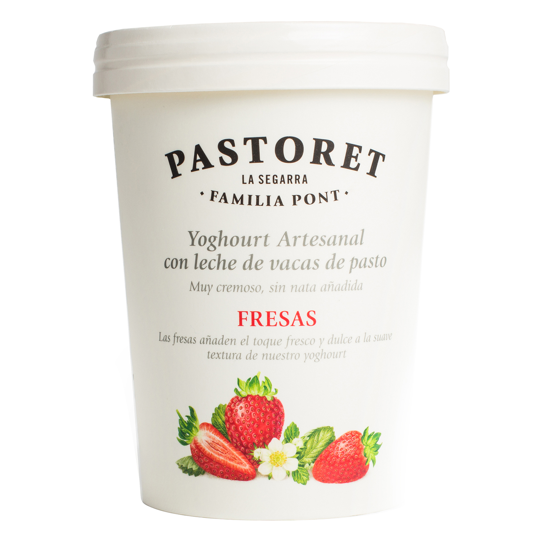 Yogur de fresas Pastoret 500 g.