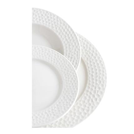 Vajilla 18 Piezas Modelo Nacar Porcelana Blanca Efecto Nacarado