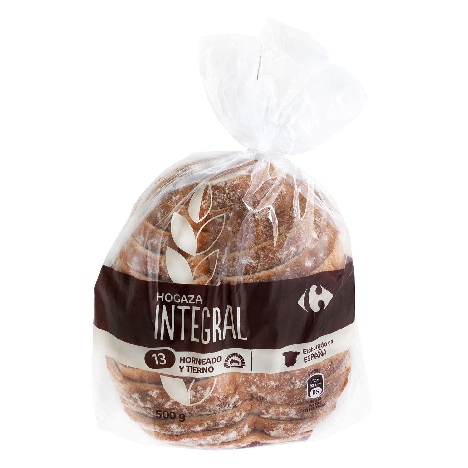 Pan de hogaza integral