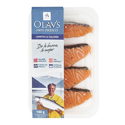 Lomitos de Salmón Olavs (4und x 45g) 180 g -