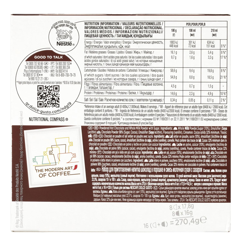 Chococino en cápsulas Nescafé Dolce Gusto 8 unidades de 33,8 g. -