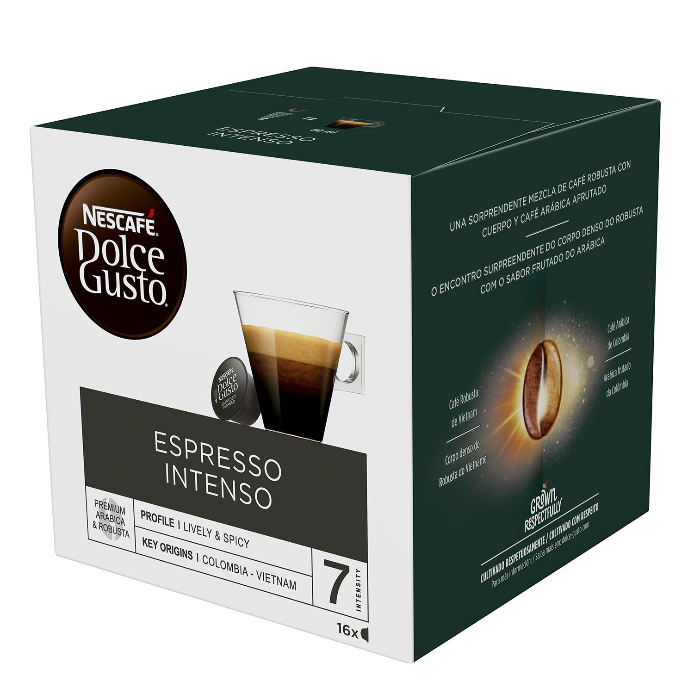 Café espresso intenso en cápsulas