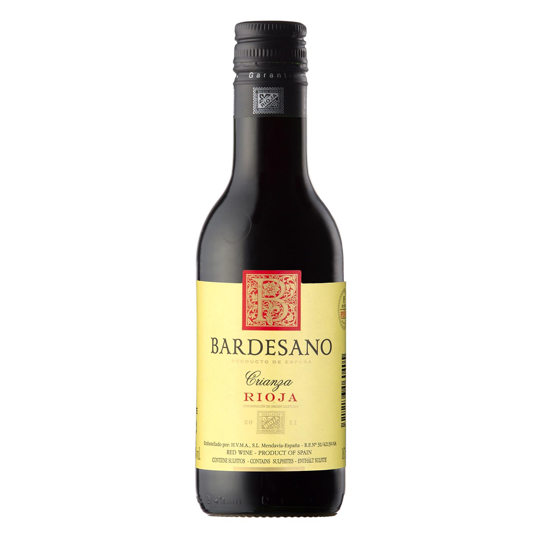 Vino D.O. Rioja tinto crianza 18,75 cl. Bardesano 18,75 cl.
