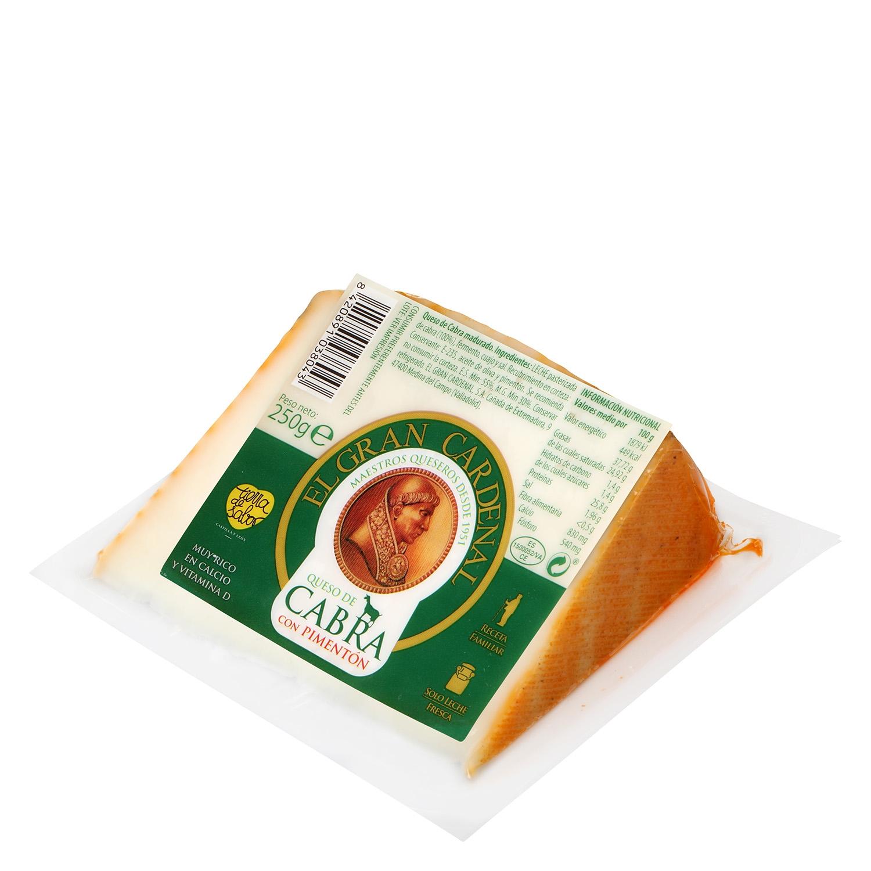 Cuña queso cabra con pimentón -