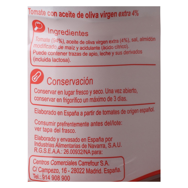 Tumaca natural con aceite de oliva Carrefour 370 g. - 2