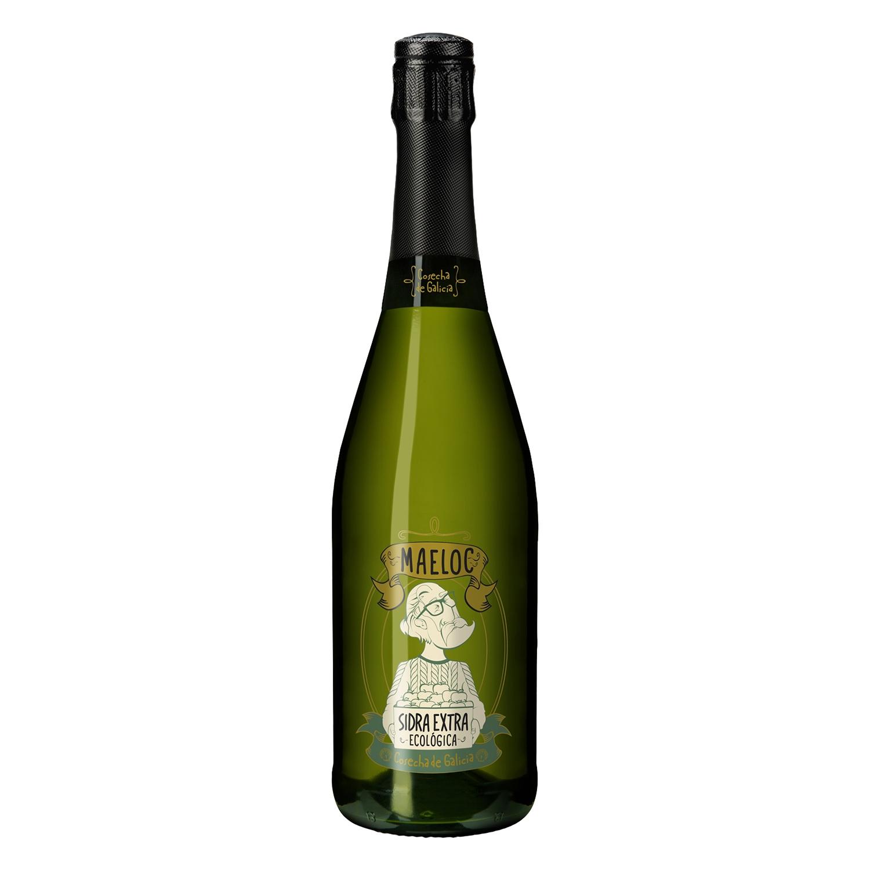 Sidra ecológica Maeloc achampanada extra botella 75 cl.