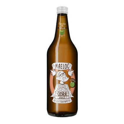 Sidra ecológica Maeloc achampanada dulce botella 75 cl.