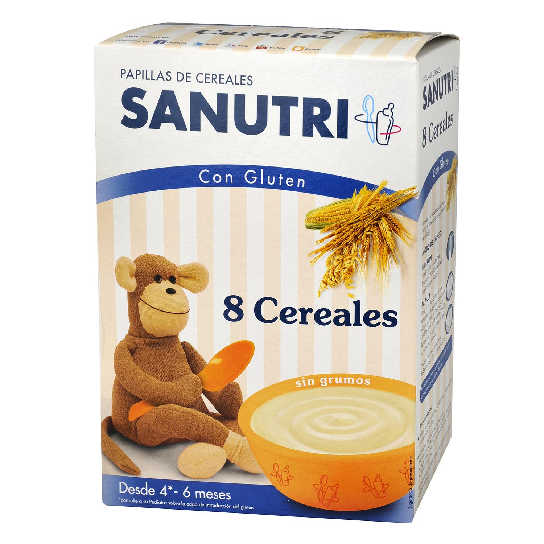 Papilla de 8 cereales Sanutri 600 g.