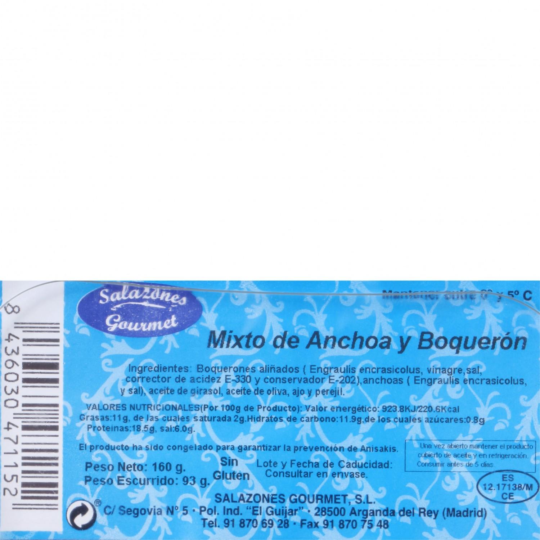 Boquerón y anchoa en aceite, Salazones Gourmet 180 g - 3