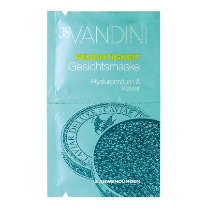 Mascarilla fácial hidratante con caviar y ácido hialuronico en sobre