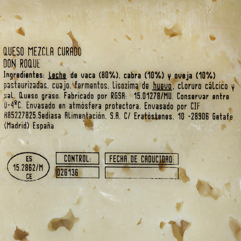 Queso mezcla semicurado Don Roque cuña 1/4, 750 g aprox - 2