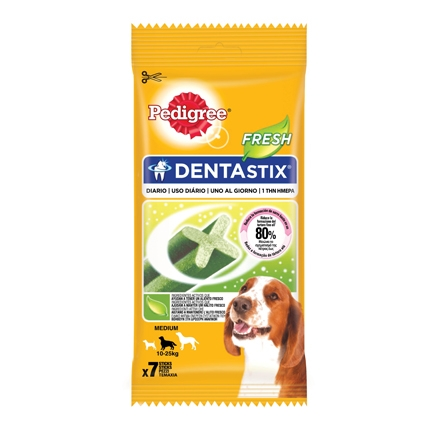 Pedigree Dentastix Fresh. Pack 7 barritas, 180gr