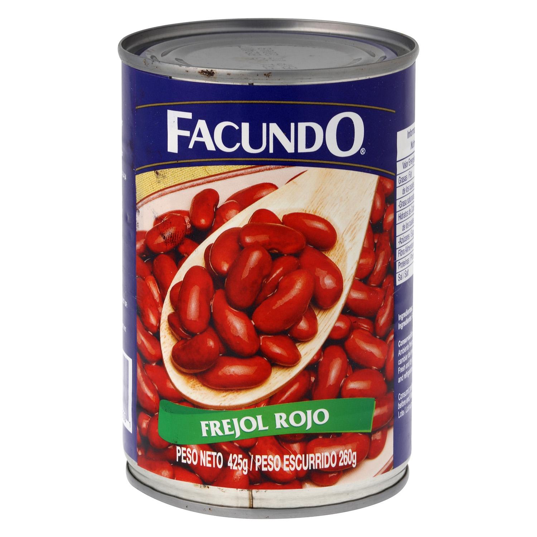 Frejol rojo cocido Facundo 425 g.