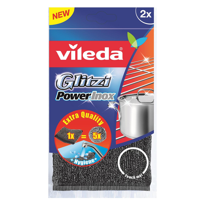 2 Estropajos Inox Glitzi Power VILEDA  - Metalizado