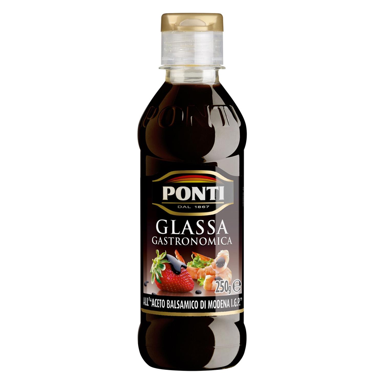 Vinagre balsámico de módena Ponti 250 ml.