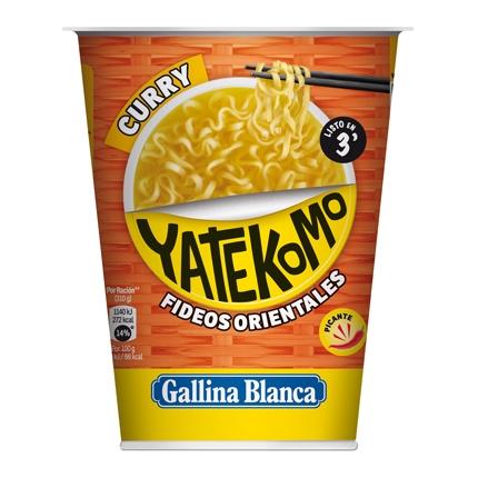 Fideos Orientales con curri Yatekomo