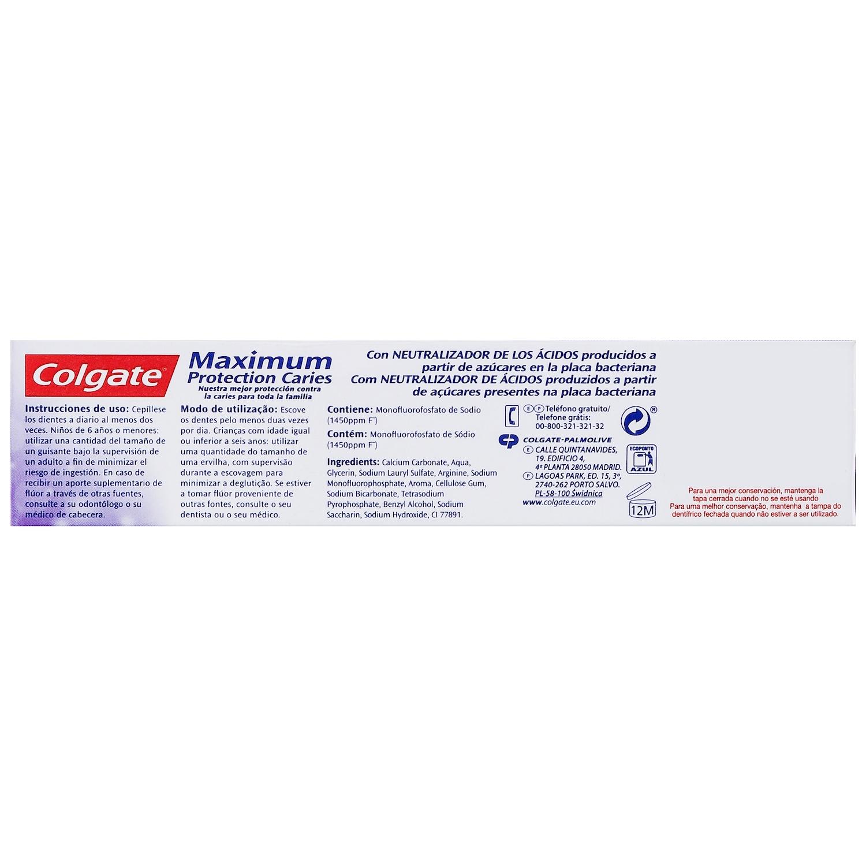 Dentífrico maximum protección caries menta fresca Colgate 75 ml. - 2