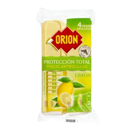 Pinza antipolillas perfume limón