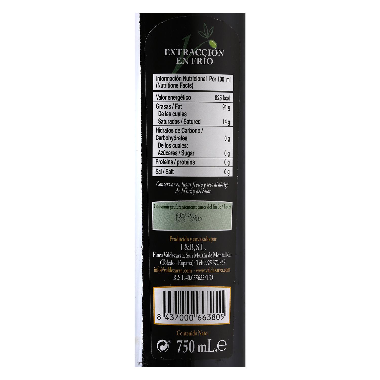 Aceite de oliva virgen extra Valdezarza 750 ml. -