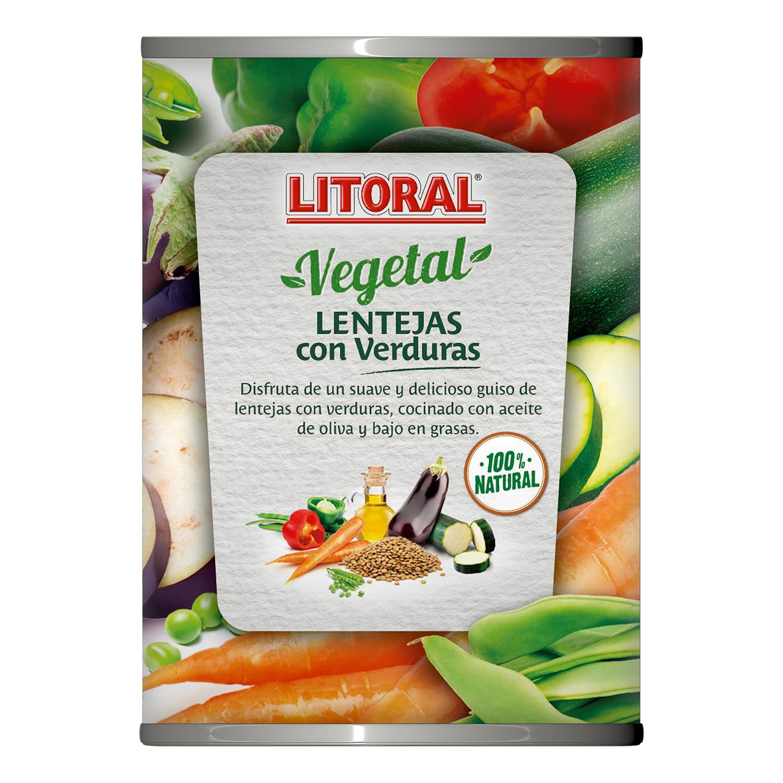 Lentejas con verduras Litoral 430 g. - 3