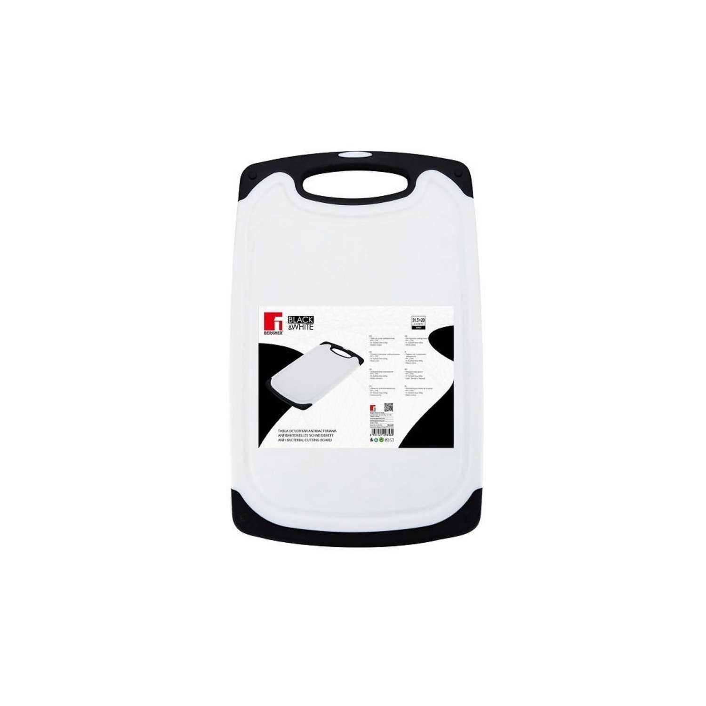 Tabla de corte de Plástico - Blanco y Negro -