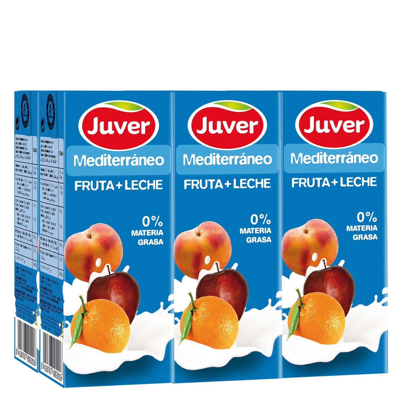 Zumo de fruta y leche Juver pack de 6 briks de 20 cl.