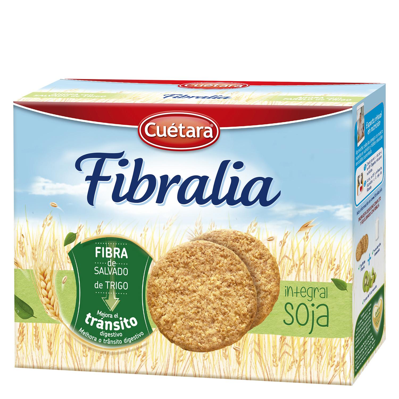 Galletas fibra integral con soja