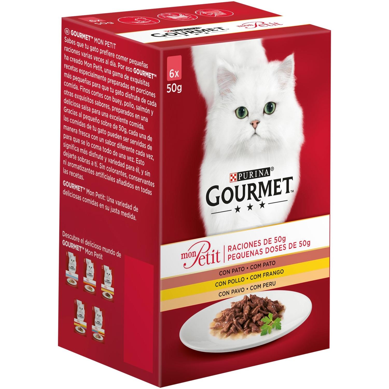 Purina Gourmet Mon Petit Comida Húmeda para Gato Pato, Pollo y Pavo 6x50g
