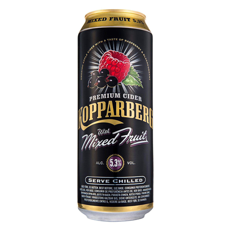 Sidra Kopparberg Premium sabor frutas mezcladas lata 50 cl.