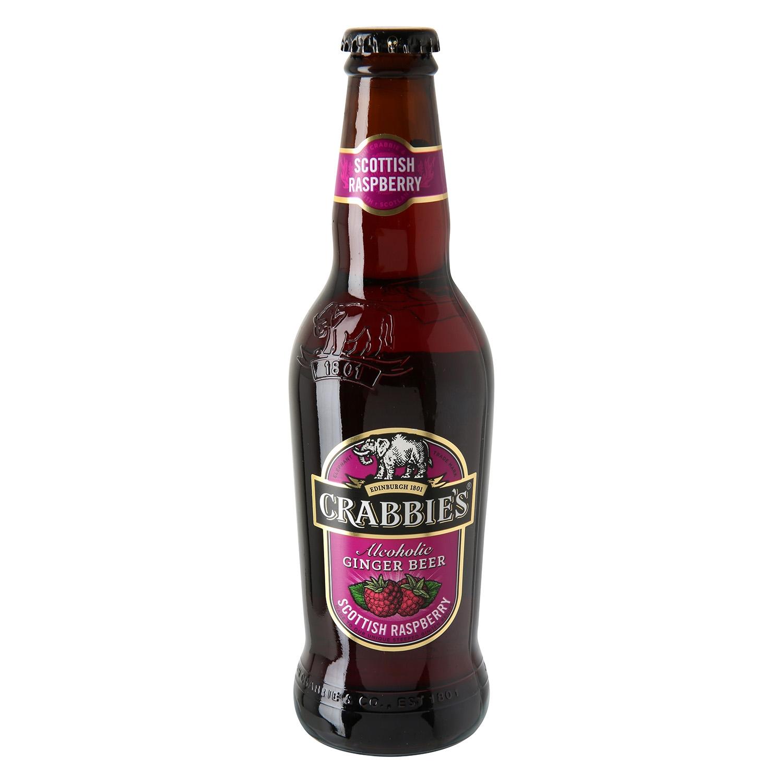 Cerveza Crabbie's con jengibre y frambuesa botella 33 cl.