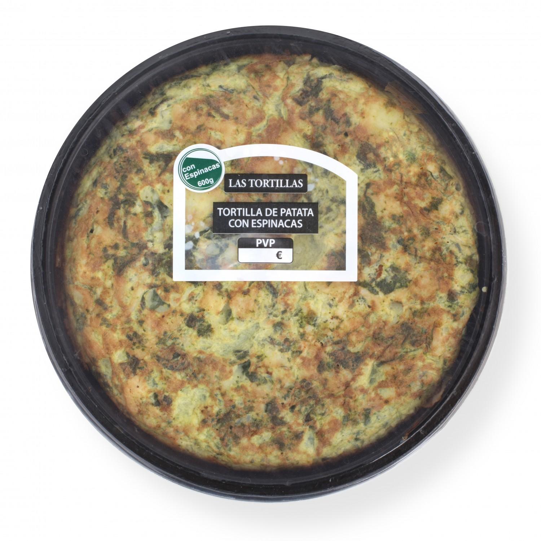 Tortilla fresca con espinacas Palacios 600 g