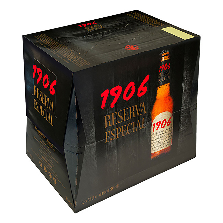 Cerveza 1906 Reserva Especial pack de 12 botellas de 33 cl.