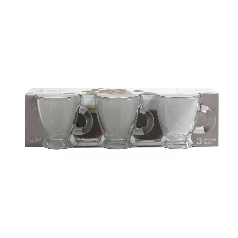 Set de Taza café de Vidrio Roma 3cl Transparente
